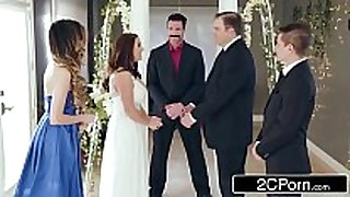 Stunning cheating bride angela white can not live out of anal