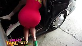 Female fake taxi guy gives breasty blonde milf a...