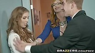 Brazzers - large mounds at work - the new white bitch par...