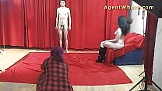 19yo casting dude gets wild striptease from nast...