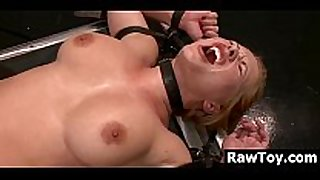 Russian belted and fucked by a machine