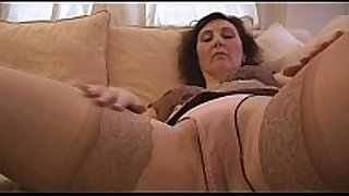 Busty aged handsome english white white wife strips