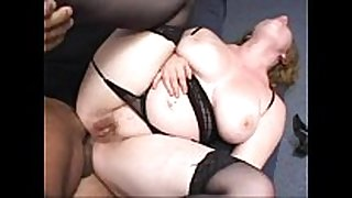 Chubby redhead drilled in the a-hole wearing a thong