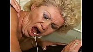 Sex-proof granny - effie kitchen - hairy