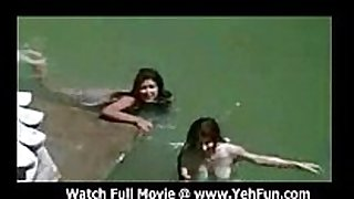 Bollywood actress bathing bare