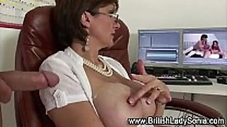 Horny older white slutty wife sonia acquires a semen flow