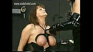 Masked floozy domina in latex ties the big pointer sisters of...