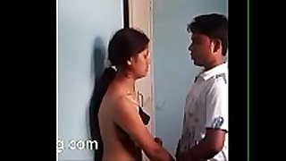 Desi sexy school gf and bf engulfing love marangos, giving a kiss